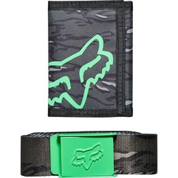 Fox Racing Mens Rutter Wallet And Belt Gift Pack
