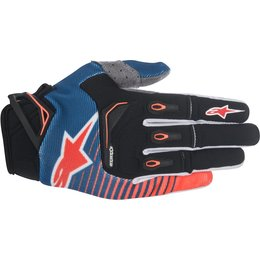 Alpinestars Mens Techstar MX Motocross Offroad Textile Riding Gloves Blue