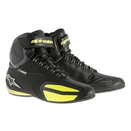 Black, Yellow Alpinestars Mens Faster Waterproof Riding Shoes 2015 Us 6 Black Yellow