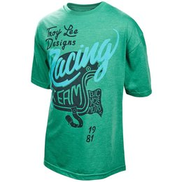 Troy Lee Designs Youth Boys Throttle Cotton Graphic T-Shirt Green