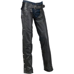 Z1R Womens Carbine Motorcycle Riding Chaps Black