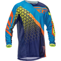 Fly Racing Mens Kinetic Trifecta Jersey Blue