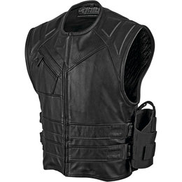 Speed & Strength Mens The Quick And The Dead Leather Vest Black