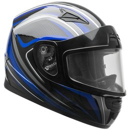 Vega Youth Mach 2.0 Jr. Razor Snowmobile Riding Helmet With Dual Pane Shield Black