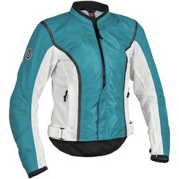 Blue, White Firstgear Womens Contour Mesh Jacket Blue White
