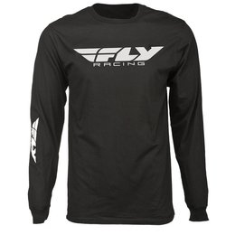 Fly Racing Mens Corporate Long Sleeve T-Shirt Black