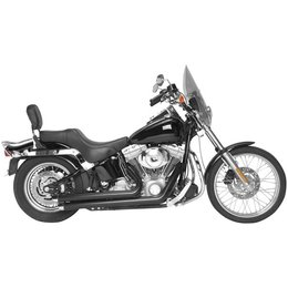 Black Rush Crossover Exhaust Full System Angled 1.75 For Harley Softail 07-10