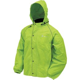 Frogg Toggs Mens Road Toad Reflective Rain Jacket Green