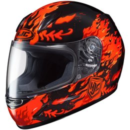 HJC Youth CL-Y Flame Face Full Face Motorcycle Helmet Red