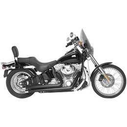 Black Rush Crossover Exhaust Full System Strght 1.75 For Harley Softail 07-10