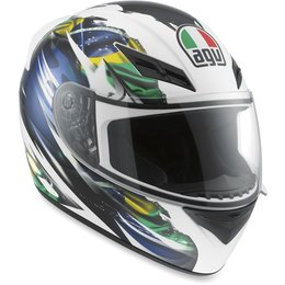 Flag Brazil Agv Mens K3 Full Face Helmet 2013