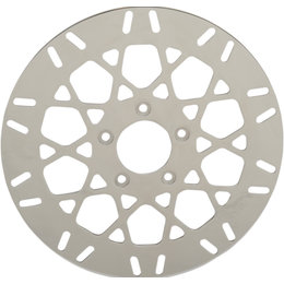 Drag Specialties Mesh Style One-Piece Brake Rotor Polished For Harley 1710-2029