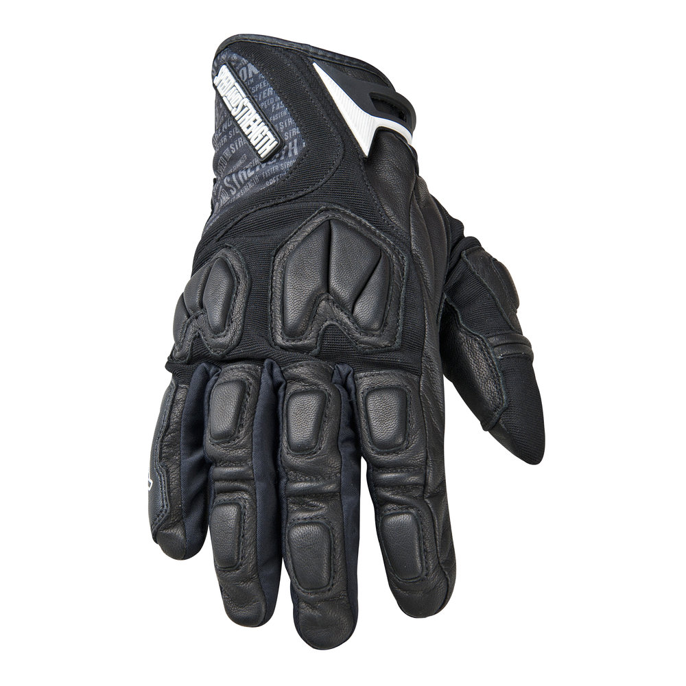 Black gloves with nails - Black Speed Strength Tough As Nails Leather Textile Gloves