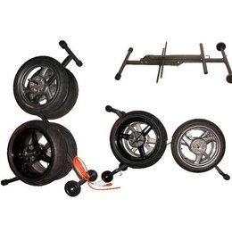 Black Powerstands Racing Collapsible Kingpin Wheel Tire Carrier Universal