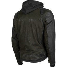 Speed & Strength Mens Straight Savage Armored Leather & Waxed Canvas Jacket Green