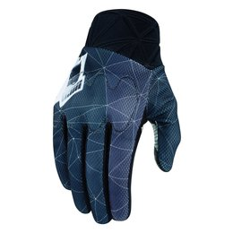 Icon Mens Anthem Blender Armored Touchscreen Textile Motorcycle Gloves 2015 Grey