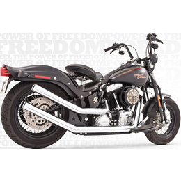 Freedom Performance Exhaust Upsweeps With Star End Cap Chrome FLST FXST 86-13