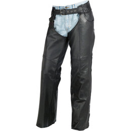 Z1R Mens Carbine Motorcycle Riding Chaps Black
