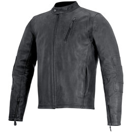 Alpinestars Mens Oscar Collection Monty Armored Leather Jacket Black