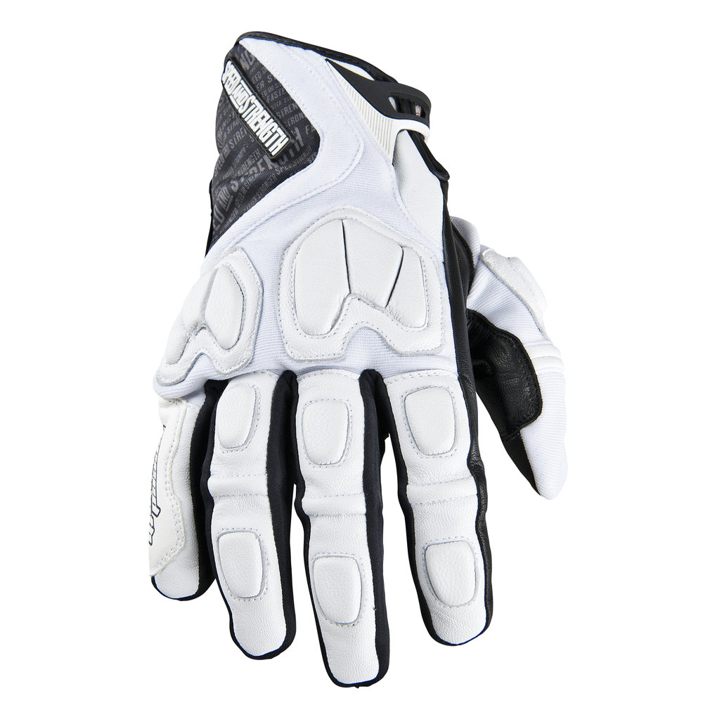 Black gloves with nails -  White Speed Strength Tough As Nails Leather Textile Gloves