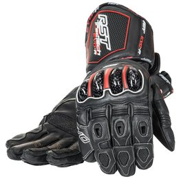 RST Mens Tractech EVO Race Leather Gloves Black