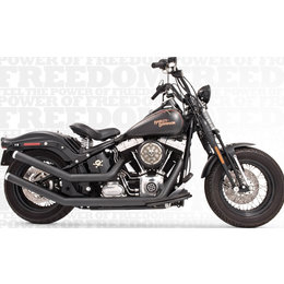 Freedom Performance Exhaust Upsweeps With Star End Cap Black FLST FXST 1986-2013