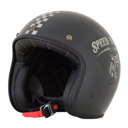 AFX FX-76 FX76 Speed Racer Open Face Helmet Black