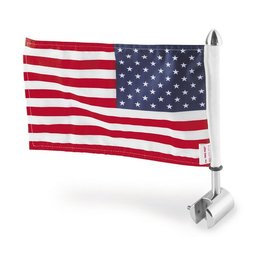 Stainless Steel Pro Pad Square 1 2 Sissy Bar Flag Mount With 6 X 9 Flag For Harley