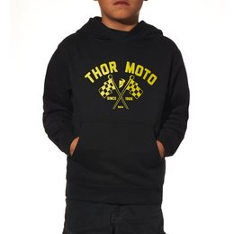 Black Thor Boys Finish Line Pullover Hoody 2015