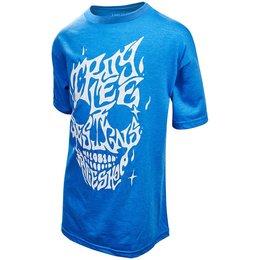 Troy Lee Designs Youth Boys Mind Melt Cotton Graphic T-Shirt Blue