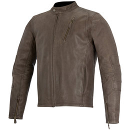 Alpinestars Mens Oscar Collection Monty Armored Leather Jacket Brown