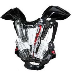 Clear, Black Evs Youth Vex Roost Guard Chest Protector Clear Black One Size