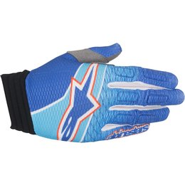 Alpinestars Mens Aviator MX Motocross Offroad Textile Riding Gloves Blue