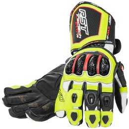 RST Mens Tractech EVO Race Leather Gloves Green