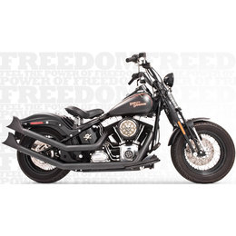 Freedom Performance Exhaust Upsweeps W/ Sharktail End Cap Black FLST FXST 86-13