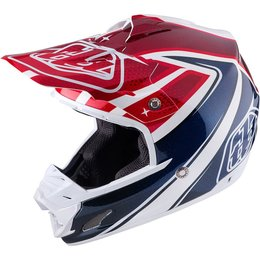 Troy Lee Designs SE3 Neptune DOT SNELL Certified MX Motocross Offroad Helmet White