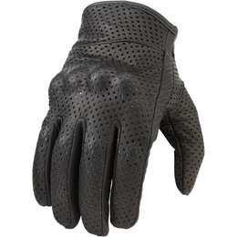 Z1R Womens 270 Perforated Leather Motorcycle Riding Gloves Black