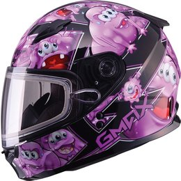 GMax Youth Girls GM49Y Attack Snow Helmet With Dual Pane Shield Purple