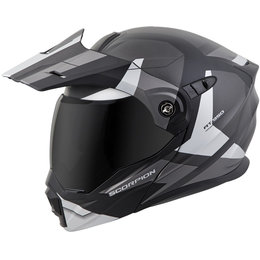 Scorpion EXO-AT950 EXOAT 950 NeoCon Modular Dual Sport Adventure Helmet Silver