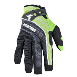 Green Speed & Strength Lunatic Fringe Mesh Textile Gloves