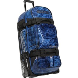 Ogio Rig 9800 Rolling Luggage Wheeled Gear Bag Blue