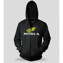 Charcoal Honda Wing Zip Hoody Black