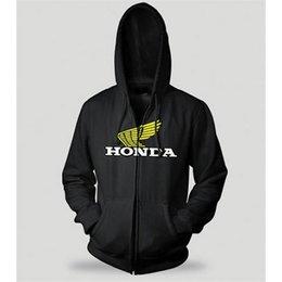Charcoal Honda Wing Zip Hoody Black