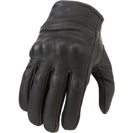Z1R Womens 270 Leather Motorcycle Riding Gloves Black