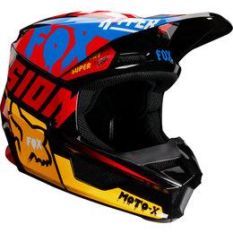 Fox Racing Youth V1 Czar MVRS Helmet Black