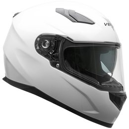 Vega RS1 RS-1 Full Face Motorcycle Riding Helmet With Flip-Up Shield White