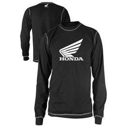 Black Honda Wing Long Sleeve Thermal Shirt