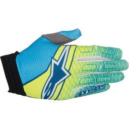 Alpinestars Mens Aviator MX Motocross Offroad Textile Riding Gloves Yellow