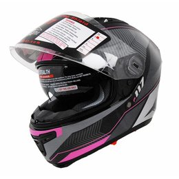 Hot Pink Vega Stealth Womens F-117 Graphic Full Face Helmet 2013