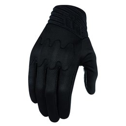 Icon Mens Anthem Stealth Armored Touchscreen Textile Motorcycle Gloves 2015 Black